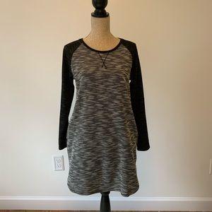 Heathered Long Sleeve Dress